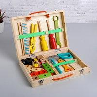 Развивающая игра 'Набор плотника  конструктор в чемоданчике' 7x30x23 см, 33 элемента
