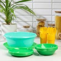 Набор посуды для пикника на 6 персон 'Вечеринка', 32 предмета, цвет МИКС