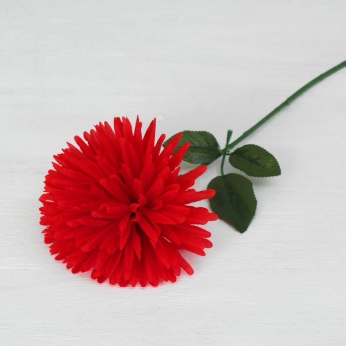 """Цветы искусственные """"Астра сфера"""" 12*60 см, красная"""