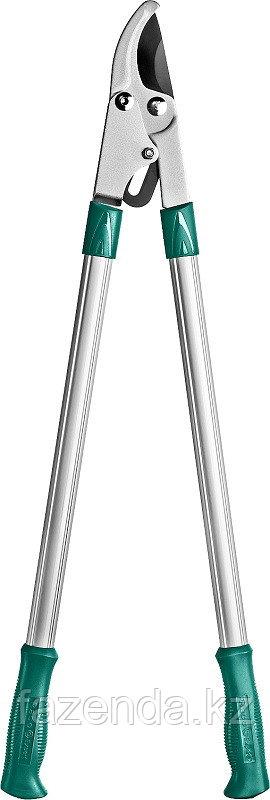 Сучкорез с алюминиевыми ручками, 2-рычажный, с упорной пластиной,  рез до 36мм, 750мм