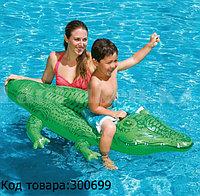 Детская надувная игрушка плот для плавания Крокодил INTEX (168 cm) 58546