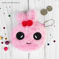 Кошелёк «Зайка», цвет розовый