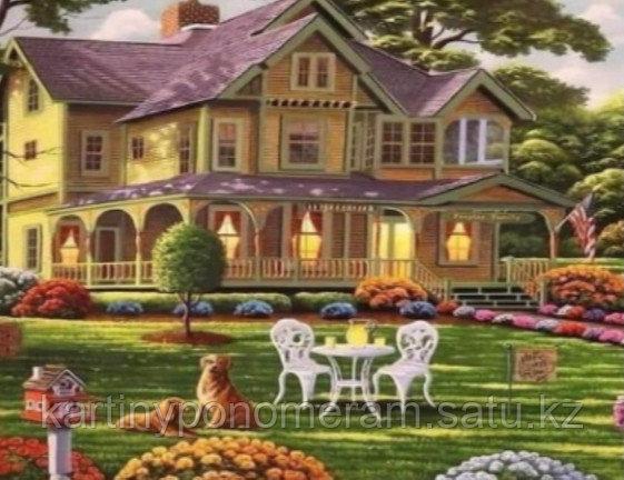 """Картина стразами на подрамнике (40х50 см) """"Большой уютный дом"""" MB-639"""