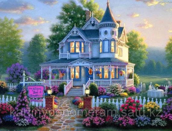 """Картина стразами на подрамнике (40х50 см) """"Дом моей мечты""""MB-649"""