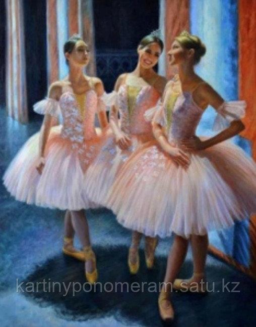 "Картина стразами на подрамнике (40х50 см) ""Три балерины"" MB-652"