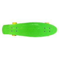 """Пенни борд (Лонгборд) 27"""" зеленая дека/желтые колеса"""