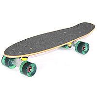 """Скейтборд классика """"Черный наждак"""" (Пенни борд ) 22,5"""" (деревянная дека / голубые колеса /"""