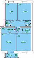 3 комнатная квартира в ЖК  Отан 2 114.53 м²