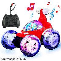 Радиоуправляемая машинка перевертыш аккумуляторный с музыкой и подсветкой 360 ° Stunt car 6605