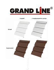 Софит Grand Line ПВХ, пластик Белый, Коричневый,Серый