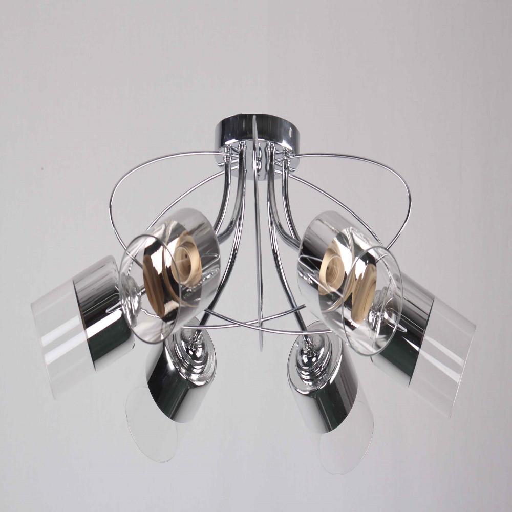 Потолочный светильник на 5 лампы Хромированный