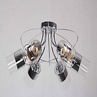 Потолочный светильник на 5 лампы Хромированный, фото 1