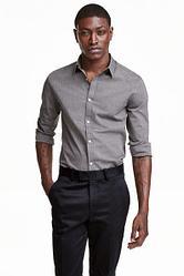 H&M Мужская рубашка с длинным рукавом