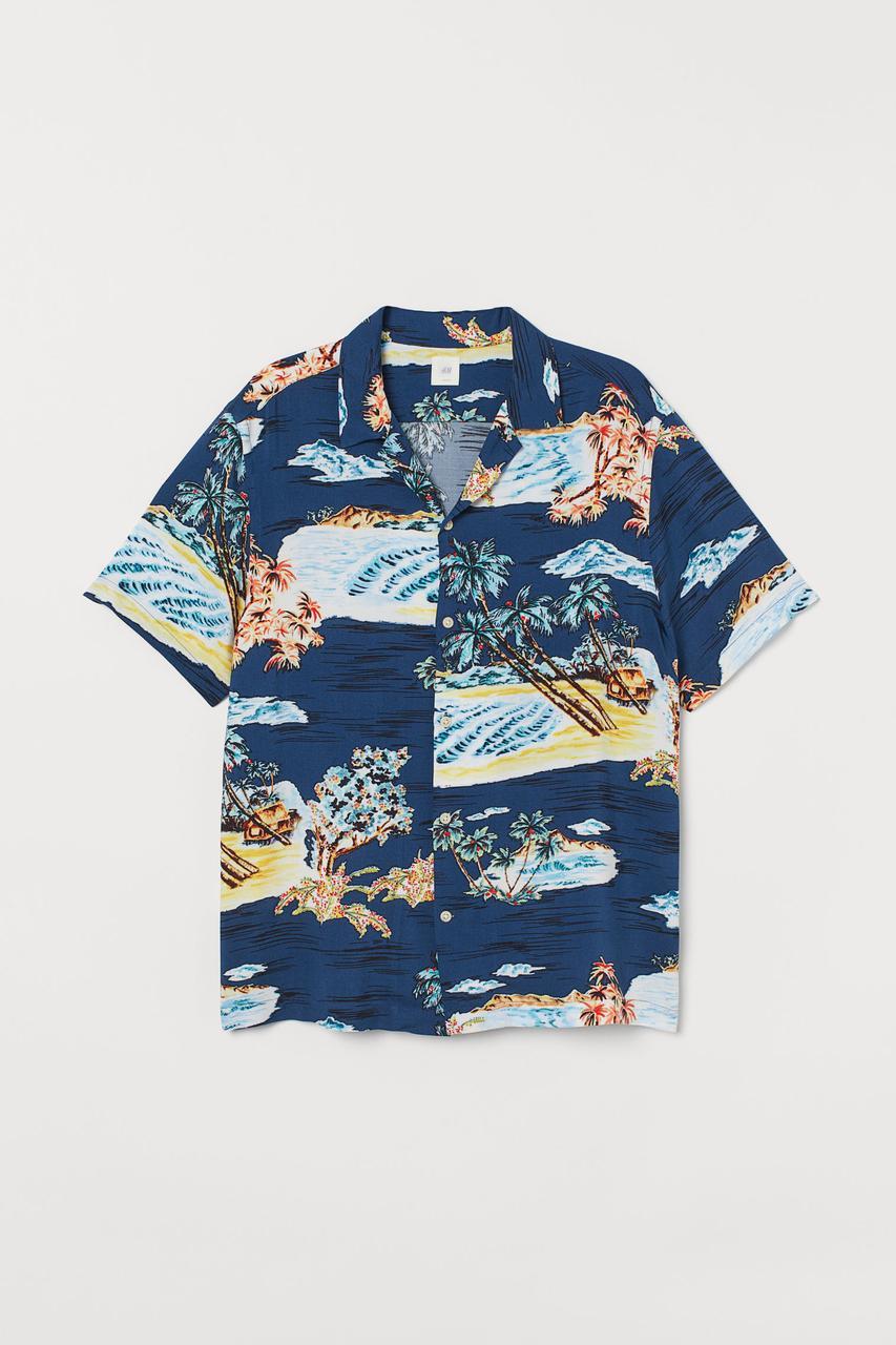 H&M Мужская рубашка с коротким рукавом