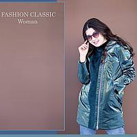 Куртка женская, удлиненная на синтепоне (осень весна)