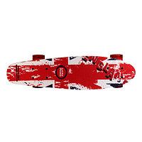 """Скейтборд классика """"наждак мультиколор"""" (Пенни борд ) 22,5"""" (деревянная дека / красные колеса /, фото 1"""