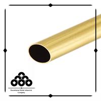 Труба латунная плоскоовальная манометрическая 20х6х0,3 мм Л63 (Л63А; CuZn37) ГОСТ 2622-2016 тянутая