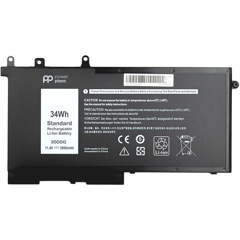 Аккумулятор PowerPlant для ноутбуков DELL Latitude E5580 (3DDDG) 11.4V 3000mAh