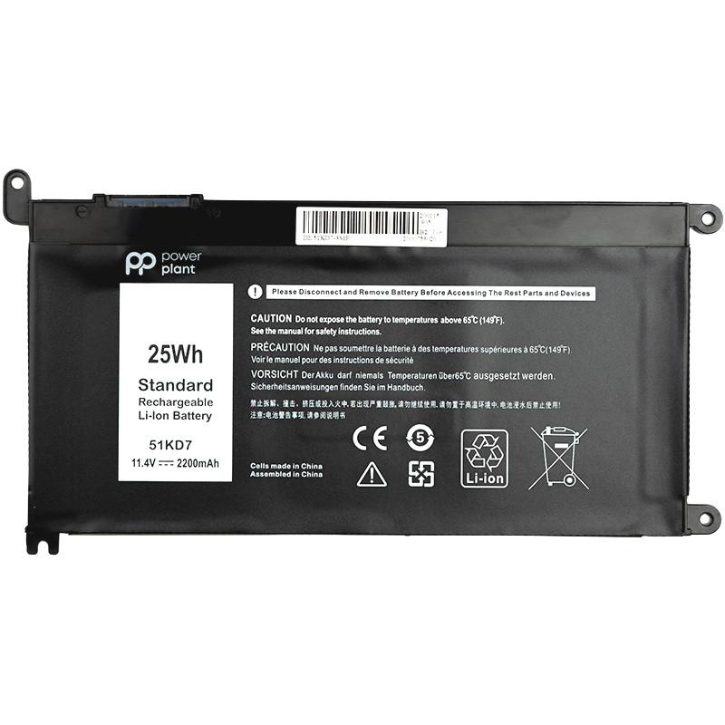 Аккумулятор PowerPlant для ноутбуков DELL Chromebook 3180 (51KD7) 11.4V 2200mAh