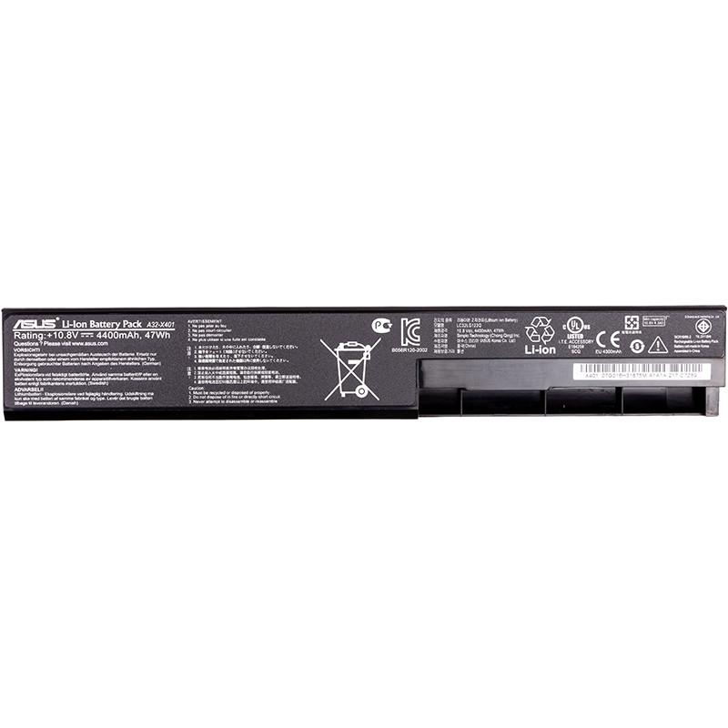 Аккумулятор для ноутбуков ASUS X401 (A32-X401) 10.8V 4400mAh (original)