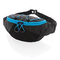 Поясная сумка Explorer (без ПВХ), черный; синий, Длина 30 см., ширина 7,5 см., высота 13 см., P730.031