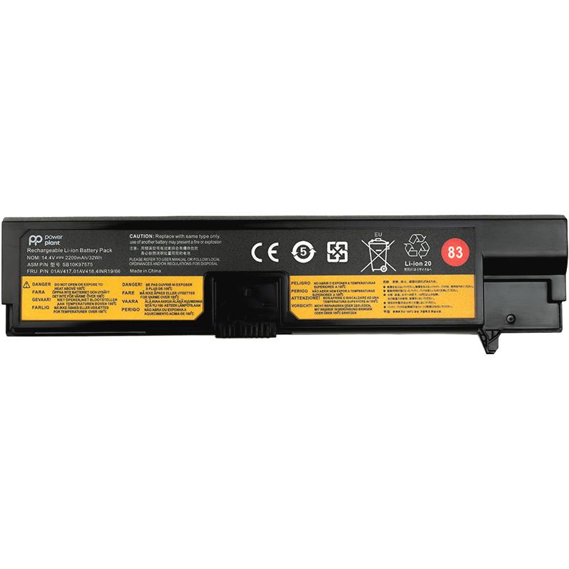 Аккумулятор PowerPlant для ноутбуков Lenovo Thinkpad E570 (01AV417) 14.4V 2200mAh