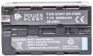 Aккумулятор PowerPlant Sony LED NP-F960 6600mAh