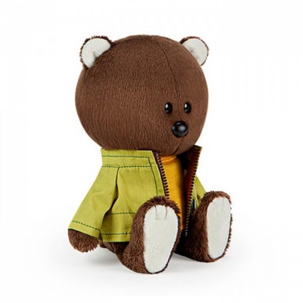 """Мягкая игрушка """"ЛЕсята"""" Медведь Федот в оранжевой майке и курточке, 15 см"""