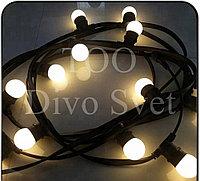 "Светодиодная гирлянда ""Belt Light"" 20-30м, плоская. Ретро гирлянда с патронами для ламп Е27."