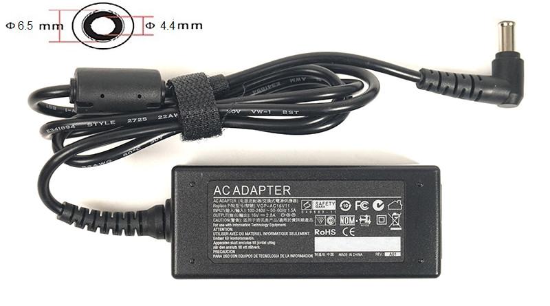 Блок питания для ноутбуков PowerPlant SAMSUNG 220V, 16V 45W 2.8A (6.5*4.4)