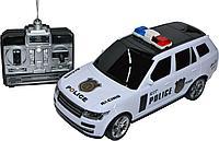 Поврежденная коробка!!! 3699-B7 Рендж ровер полиция с мигалкой на р/у 4 функции Police Car  33*12см, фото 1