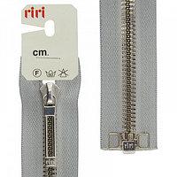 Молния декоративная Riri,металл серебро ,80 см ,разъёмная