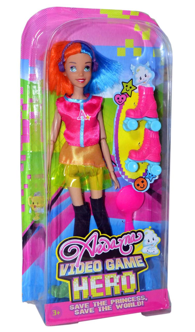 Упаковка повреждена!! D210 Кукла 2 вида на ролликах с наушниками (мальчик,девочка)