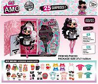Немного помят!! Pg8103 Bela Dolls (черно-белая одежда) LOL кукла Лол 25 сюрпризов 30*31см, фото 1