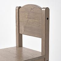 Детский стул, серо-коричневый