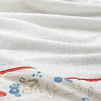 Полотенце с капюшоном, орнамент «кролики/черника», 60x125 см