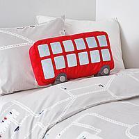 Подушка, красный, 45x27 см