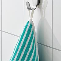Полотенце с капюшоном, в полоску, зеленый, 80x80 см
