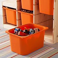 Комбинация д/хранения, светлая беленая сосна, оранжевый, 94x44x91 см