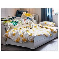 Каркас кровати с выдвижной кроватью, белый, 90x200 см
