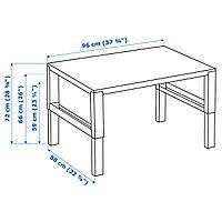 Письменный стол, белый, 96x58 см