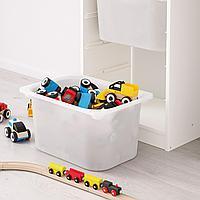 Комбинация д/хранения+контейнеры, белый, белый бирюзовый, 46x145 см