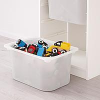 Комбинация д/хранения+контейнеры, белый, бирюзовый, 46x30x94 см