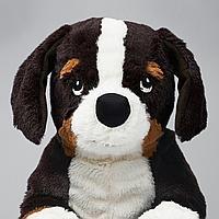 Мягкая игрушка, собака, бернская овчарка белый, 36 см