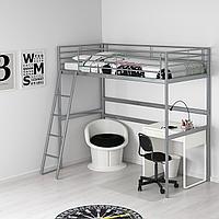 Каркас кровати-чердака, серебристый, 90x200 см