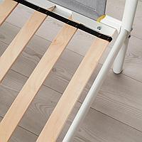 Каркас 2-ярусной кровати, белый, светло-серый, 90x200 см