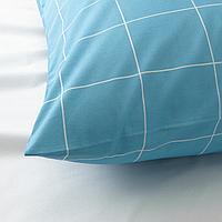 Пододеяльник и 1 наволочка, синий, графический орнамент, 150x200/50x70 см