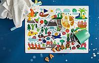 Салфетка под приборы, орнамент «фрукты/овощи», разноцветный, 40x30 см