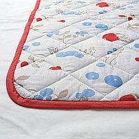 Одеяло/плед, орнамент «кролики/черника», белый/красный, 96x96 см