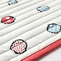 Одеяло/плед, белый, бирюзовый, 90x90 см
